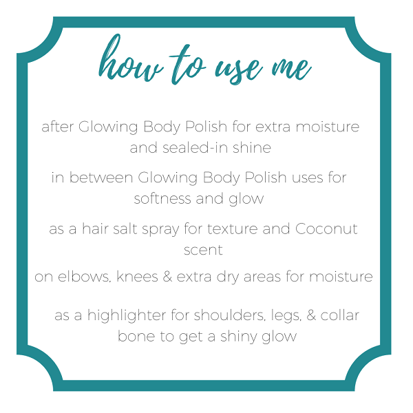 how to use me body oil